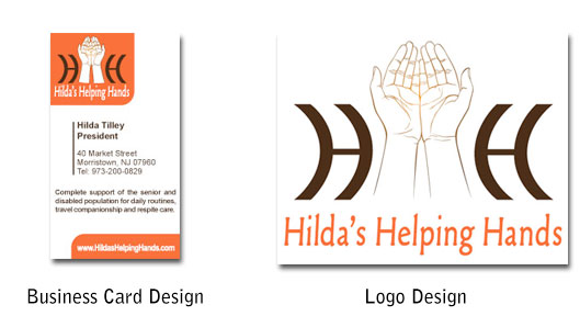 Hildas Helping Hands Business Card